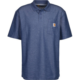 Carhartt Work Pocket Polo Men, dark cobalt/blue heather
